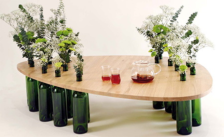 Divinus... A table made from reycled materials and choose your own shape