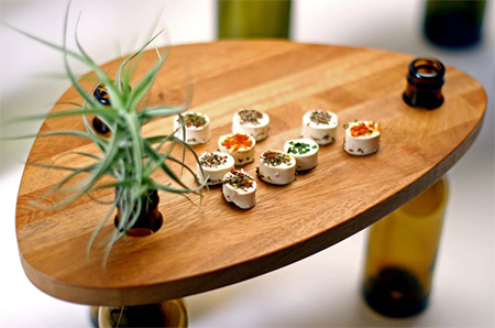 Divinus... A table made from reycled materials use for appetisers