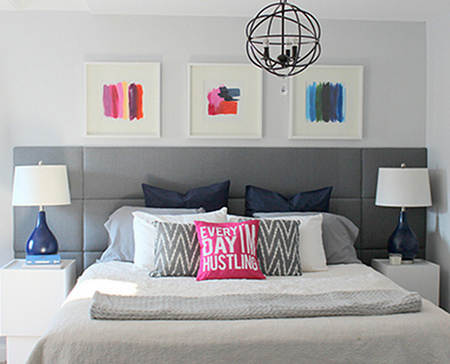 Super simple upholstered feature headboard