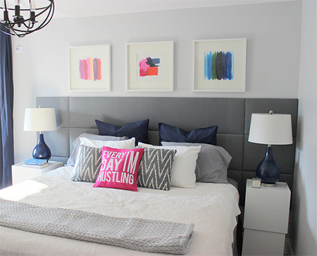 Super easy upholstered feature headboard