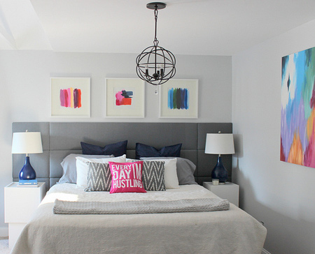 Super easy upholstered panel feature headboard