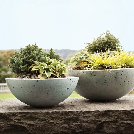craft your own concrete garden planters
