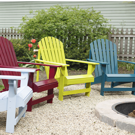 Add colour to your outdoor furniture with a can or two of Rust-Oleum Universal spray paint. You can use Rust-Oleum spray paints on wood, plastic or steel furniture to give them an instant update