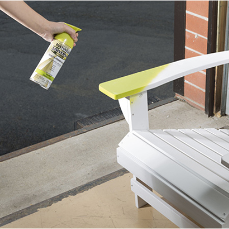Spray paint outdoor furniture