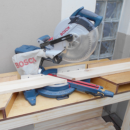 DIY make mobile workbench for mitre saw