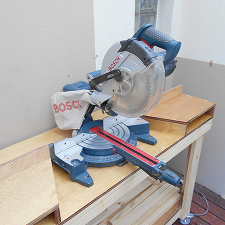 DIY how to make mobile workbench for mitre saw