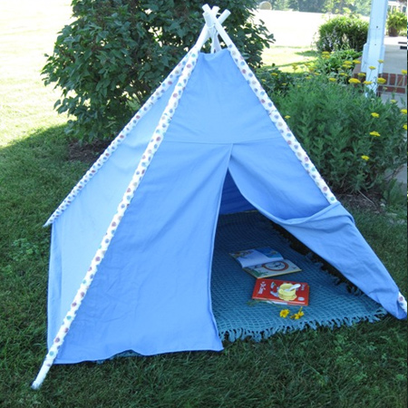 Make a teepee for indoors or outdoors