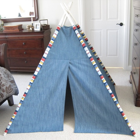 Make a teepee for indoor or outdoor