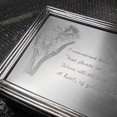 Make a faux pewter trinket box with engraved lid