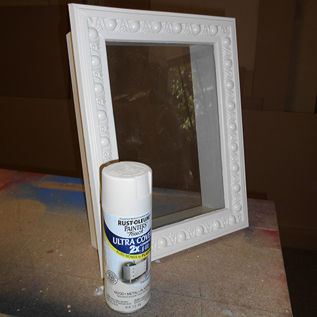 Spray inside and outside the shadow box with Rust-Oleum 2X Ultra Cover