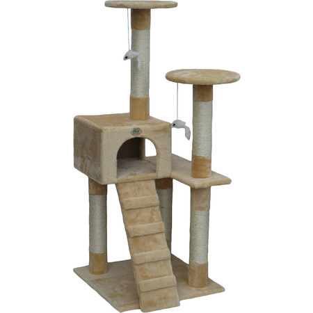 Home dzine home diy how to make a cat play stand for Diy cat tree pvc pipe