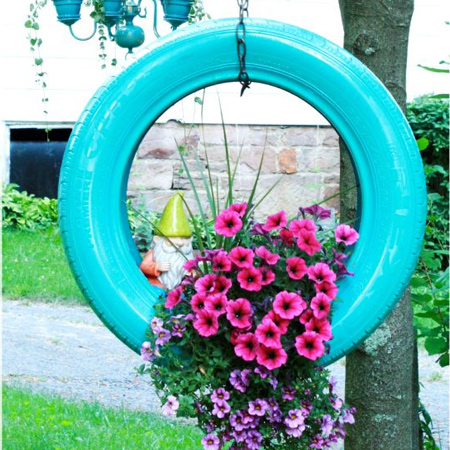 garden ideas using tyres moreover if you like to make your house is unique you also need to involve family member to share their idea and creativity - Garden Ideas Using Tyres