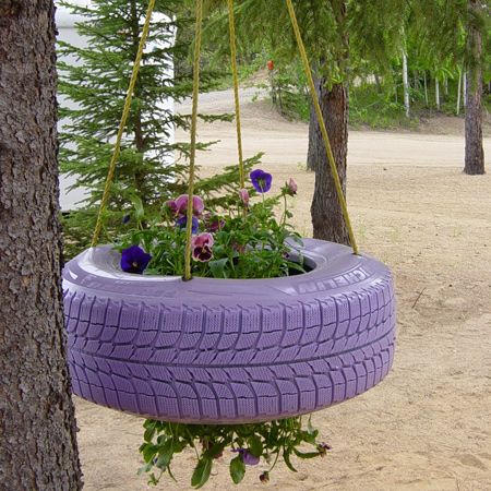 More Ideas For Using Old Tyres Outdoors In The Garden