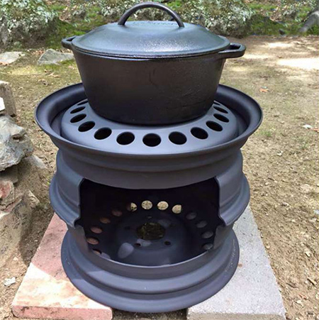 Home Dzine Garden Ideas Make A Braai Using Wheel Rims