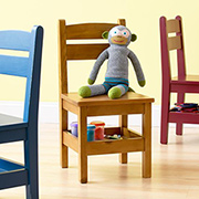 Kiddies storage chair