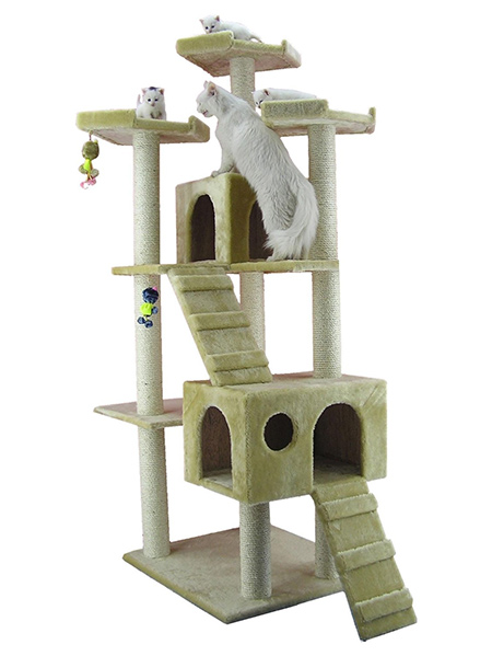 home dzine home diy how to make a cat play stand. Black Bedroom Furniture Sets. Home Design Ideas
