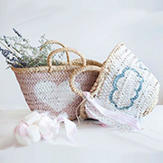 Painted spring baskets