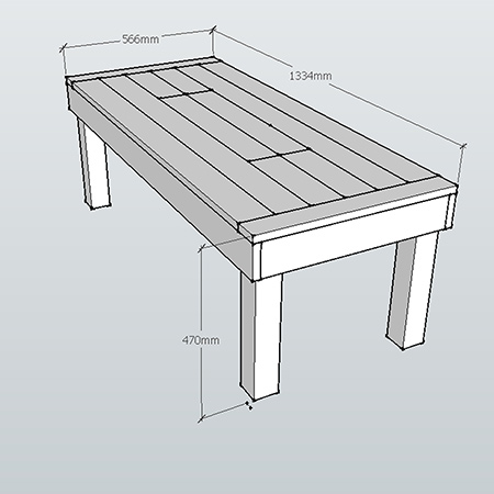 Outdoor table with ice box cooler