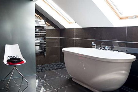 attic or loft conversion for additional or extra bathroom