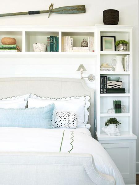 Home Dzine Bedrooms Storage Ideas Around The Headboard