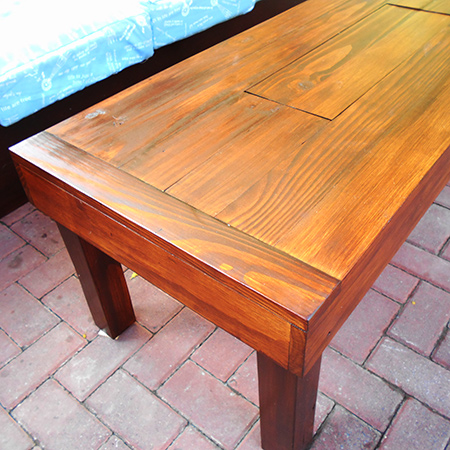 diy make an outdoor coffee table
