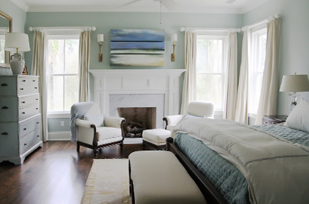bedrooms in muted blues or neutral hues