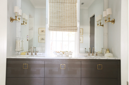 bathrooms in muted or neutral hues