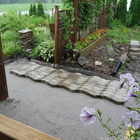 Lay a path with paving blocks