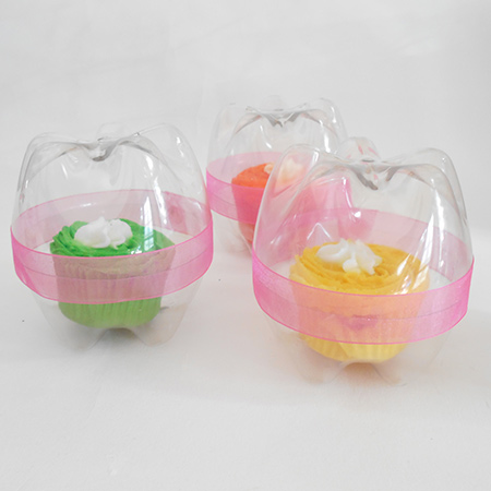 Home Dzine Craft Ideas Recycled Plastic Bottle Cupcake Holders