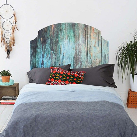 Diy Headboard With Weathered Wood Panels