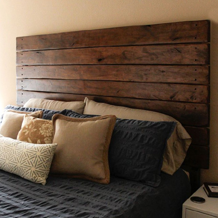 Diy Headboard With Pine Panels Woodoc Stain