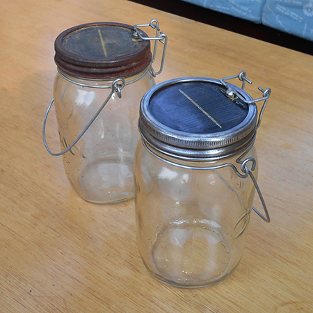 Restore consol solar jar with Dremel MultiTool and accessories