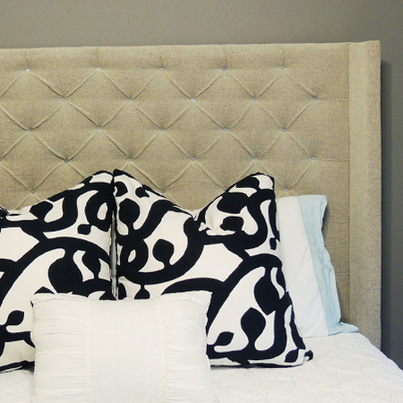 Tufted headboard with a unique twist