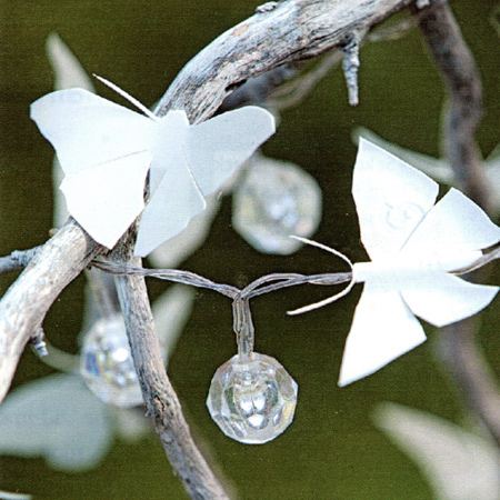 Home dzine craft ideas upcycle white plastic bottles for Outdoor butterfly ornaments