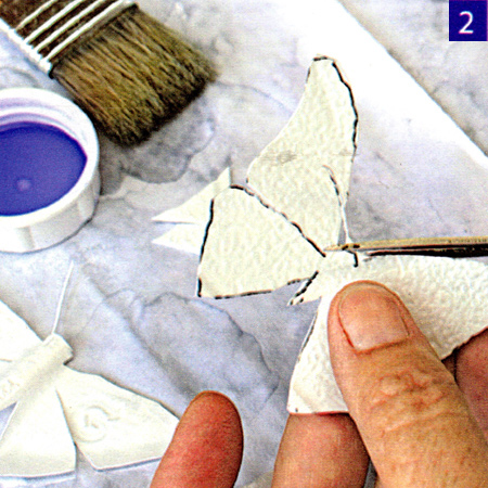 Upcycle white plastic bottles into an outdoor butterfly ornament
