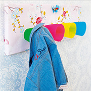 Easy and colourful coat hanger