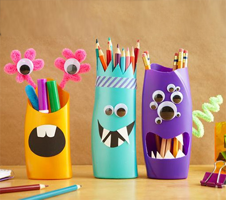 Recycle Plastic Shampoo Bottles Into Pencil Holders