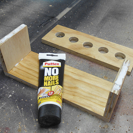 use pattex no more nails adhesive to join sections