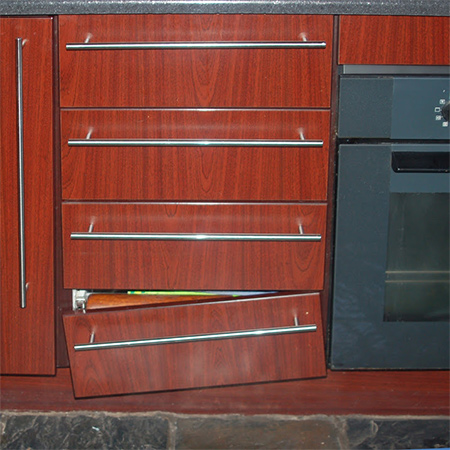 From time to time every kitchen needs a bit of maintenance to keep it in good condition. Here's a quick guide for fixing loose or broken drawer fronts and re-attaching cabinet hinges.