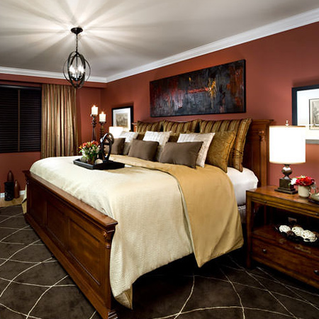 When designing the layout for a bedroom it is important to take the size of the room into account. A bed that is too big will limit movement in the room, and limit the amount of space required for nightstands, a chest of drawers, or other furniture to be included in the room.