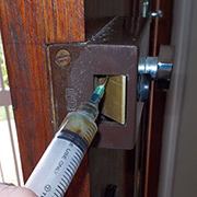Oil door and gate locks with ease