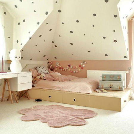 decorating ideas dreamy bedroom for little girl bed with storage drawers