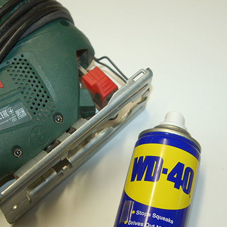 WD-40 is a silicone-free solution that not only lubricates, but also protects against moisture and rust. After cleaning, spray WD-40 into moving parts [not close to electrical motors] and then remove any excess with a cloth or rag.