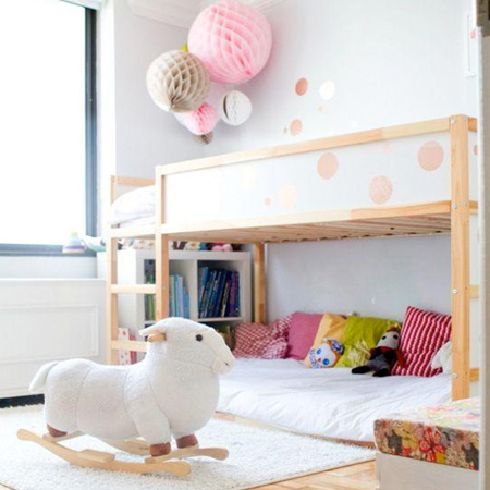 decorating ideas dreamy bedroom for little girl with bunk beds