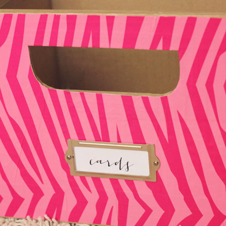 Make colourful storage boxes