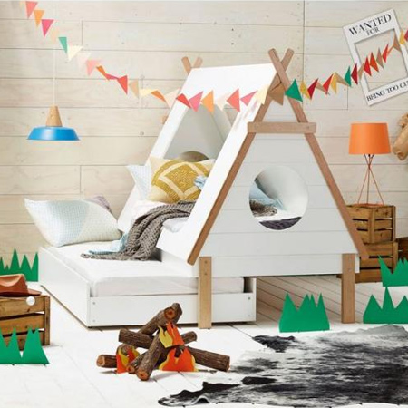 decorating ideas dreamy bedroom for little girl wigwam or teepee bed
