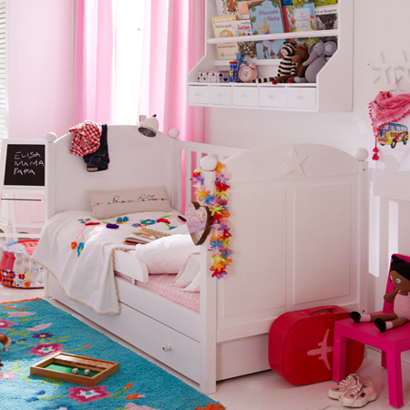 decorating ideas dreamy bedroom for little girl with underbed storage drawers