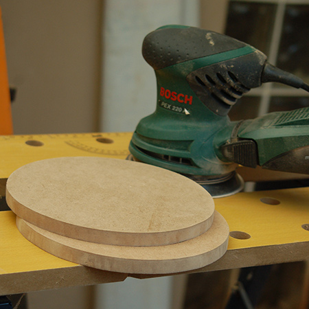 4. Sand the cut edge with 180-grit sanding pads or sandpaper to ensure a smooth finish.