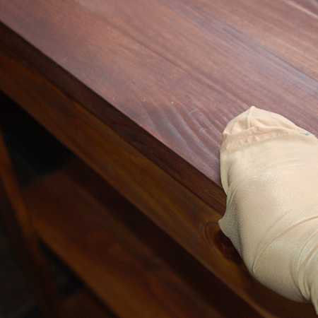 Use old stockings to check the finish on sanded furniture before you paint, seal or varnish. Rub the stocking over the surface with the direction of the grain and you will soon pick up any imperfections.