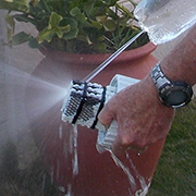 Homemade pressure washer